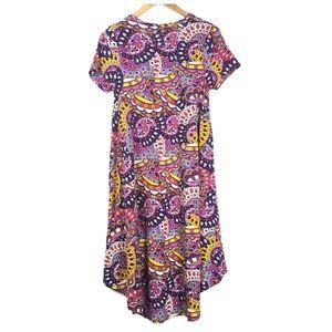 LuLaRoe Dresses - LulaRoe Carly Dress Purple Flower Power XXS